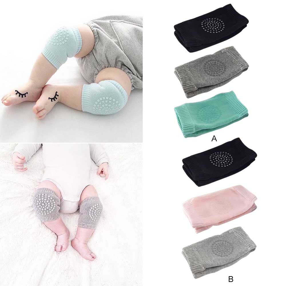 3 Pairs 0-3 Years Kids Baby Kneepads Elastic Soft Cotton Knee Pads Non-slip Crawling Knee Elbow Protector Cushion Pads Kneecap