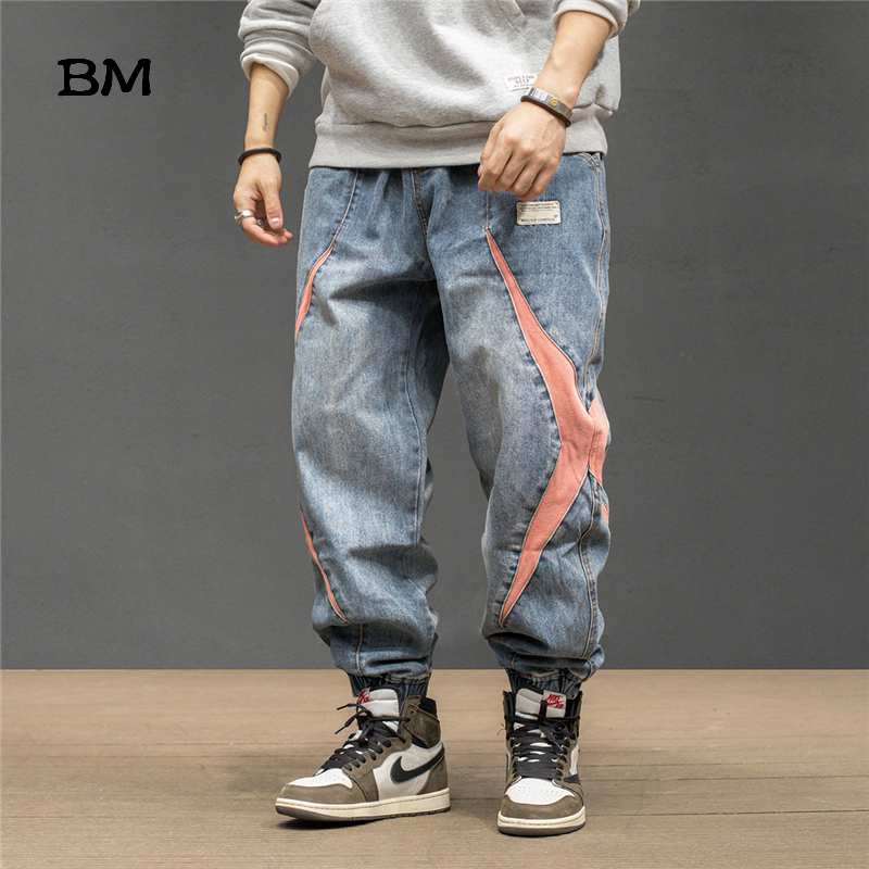 2020 Fashions Hip Hop Harem Jeans Men Kpop Korean Style Clothes Loose Baggy Jeans Streetwear Jogger Jeans Mens Denim Pants