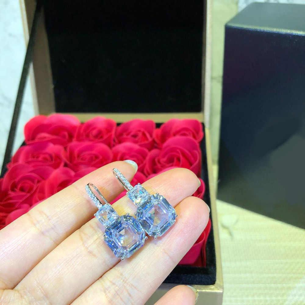 HIBRIDE ออกแบบใหม่ Brilliant ต่างหูแหวนสร้อยคอชุดเครื่องประดับสำหรับเจ้าสาวอุปกรณ์จัดงานแต่งงานขายส่ง N-346