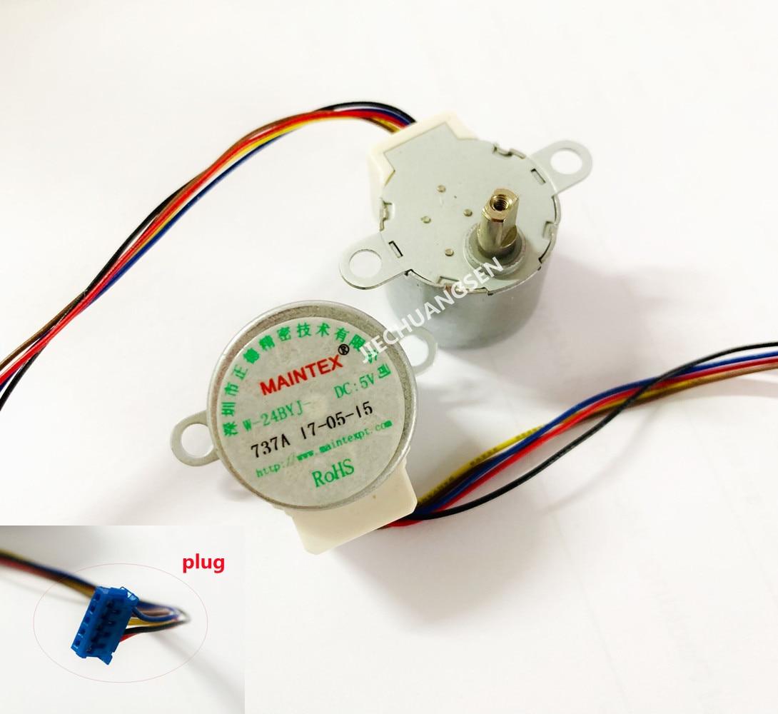 Шаговый электродвигатель 24BYJ48, 4 фазы, 5 линий, 5 в постоянного тока, для очистителя воздуха, кондиционера, холодильника, вал 10,5 мм