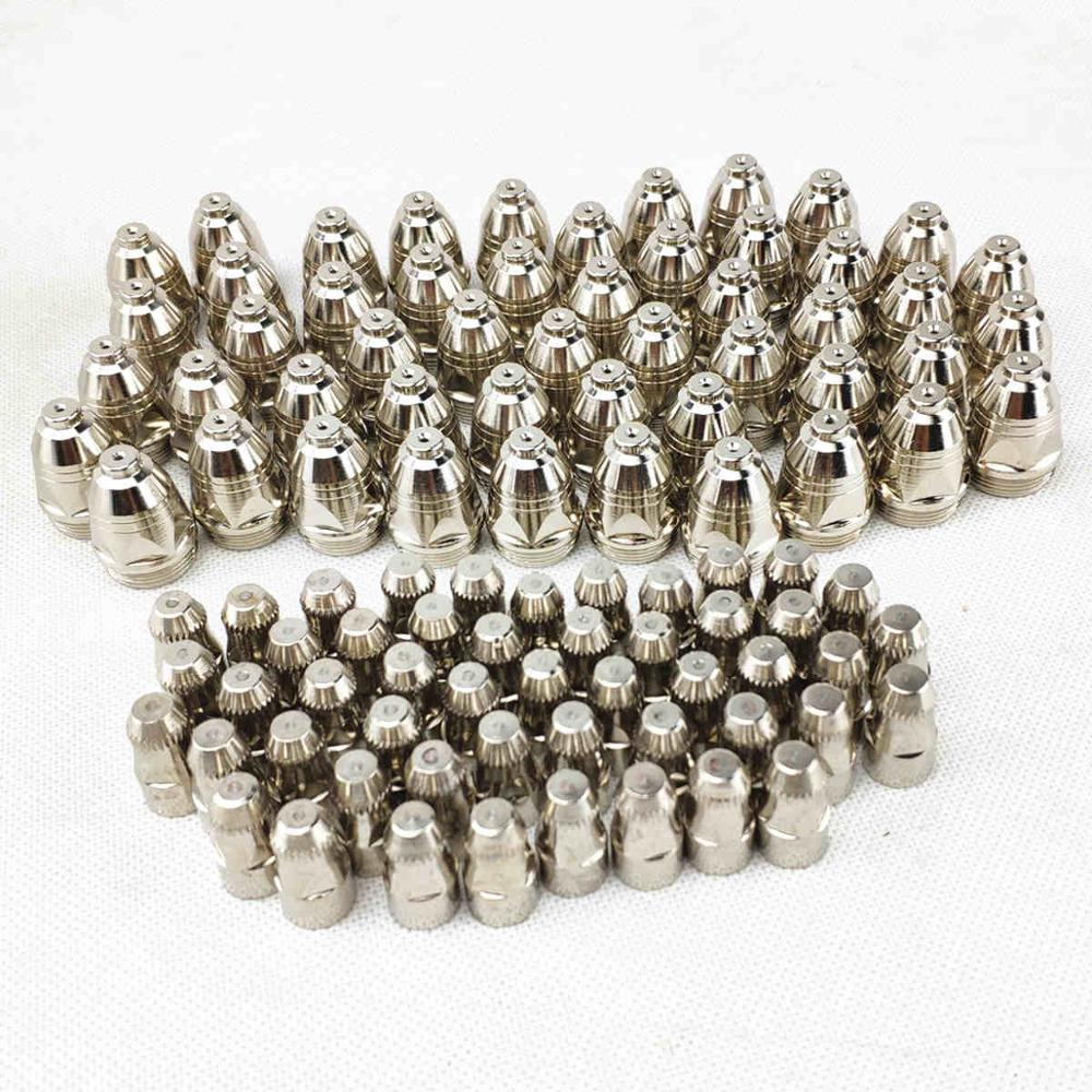 P80 Cutting Torch Tip Electrode Nozzle 100pcs Cutting CNC 60A 80A 100A P80 Plasma Torch Consumable