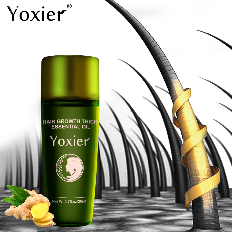 Yoxier Herbal Hair Growth Essential Oil Shampoo hair care styling Hair Loss Product Thick Fast Repair Growing Treatment Liquid-in Hair Loss Products from Beauty & Health