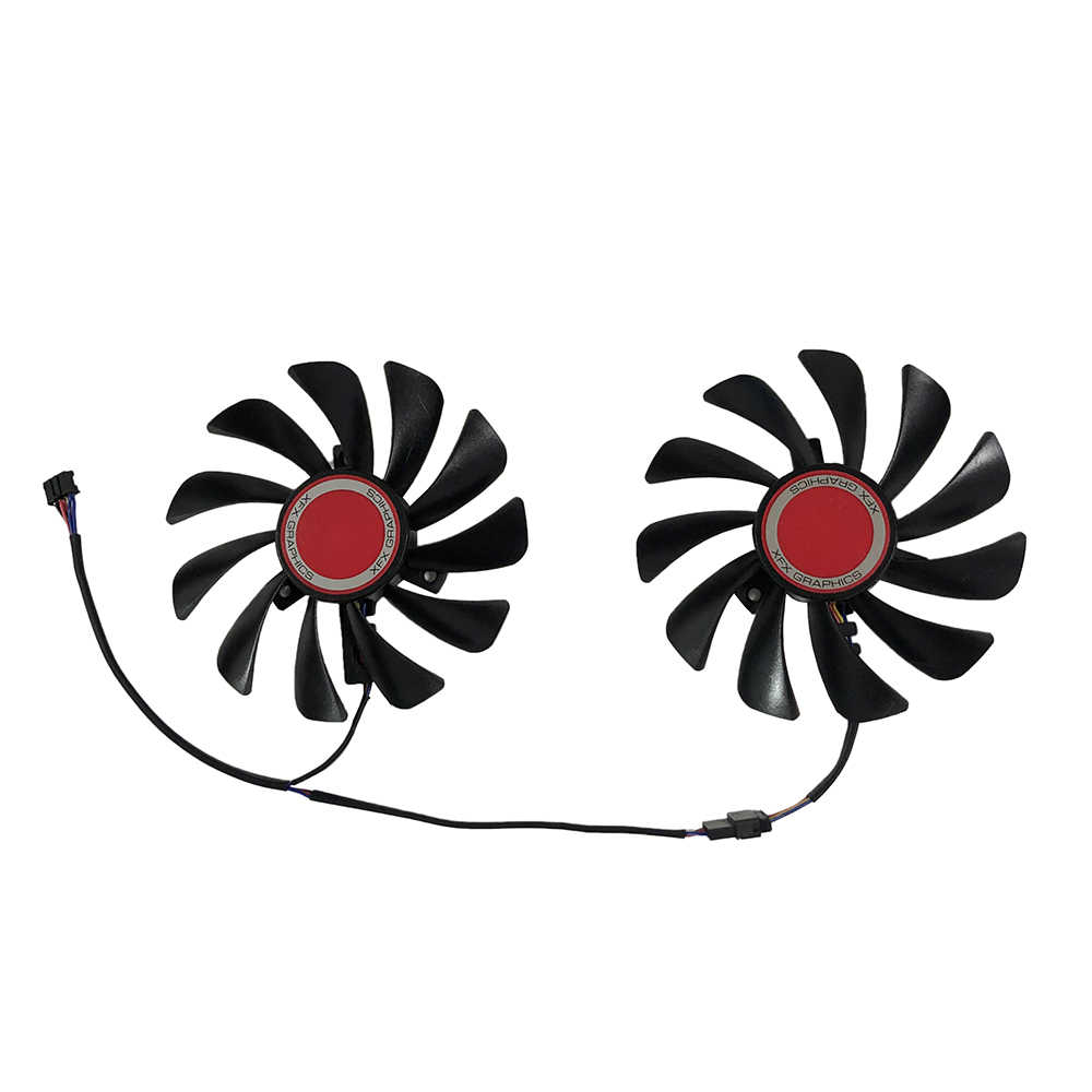 2 pçs/set FDC10U12S9-C CF1010U12S 95mm Alternativa RX590 Placa De Vídeo GPU fan Cooler Para RX 590/580 VGA Placa de Vídeo XFX