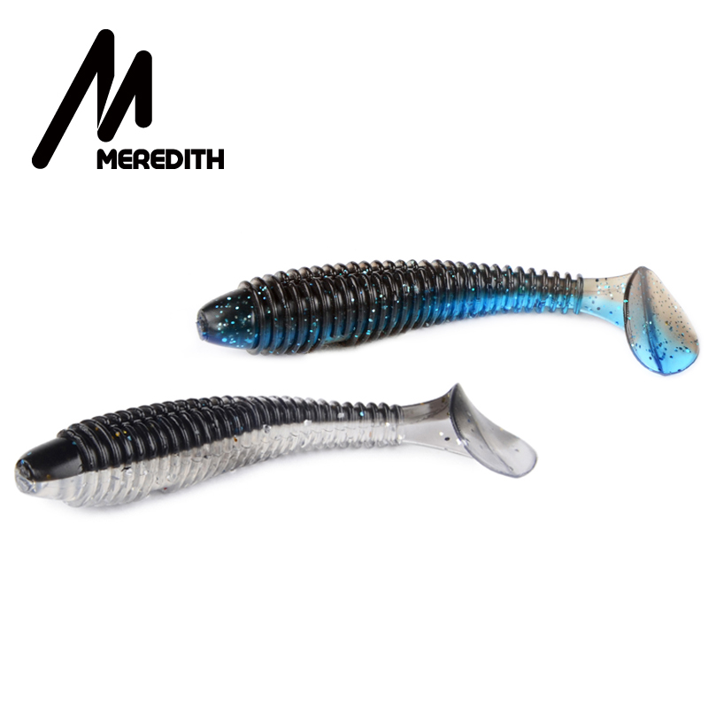 MEREDITH Swing Impact FAT Fishing <font><b>Lures</b></font> 75mm 85mm <font><b>180mm</b></font> Soft Rubber <font><b>Lure</b></font> Vibration Tail Wobblers Fishing Gear Silicone Bait Pike image