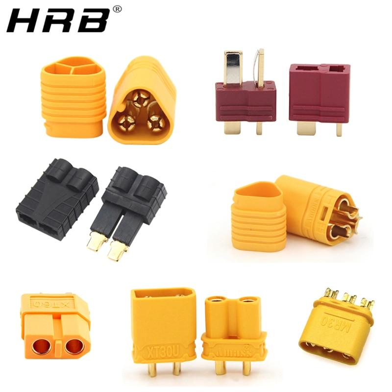 2 шт., Amass T Deans XT60, XT-60, TRX, XT30U, MR30, MR60, MT30, MT60, штыревые женские пулевые коннекторы, детали для зарядного устройства RC Lipo