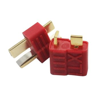 New T-Plug Non-slip Connector Male Deans For Deans RC Lipo Battery Helicopter tamiya male connector to deans style t plug cable wire for esc motor