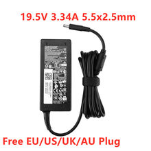 Genuine 19.5V 3.34A 65W 4.5x3.0mm AC Power Adapter Para Dell Inspiron 3551 3558 5455 5459 5565 XPS 11 12 9343 9350 Carregador Portátil