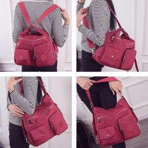 Image 2 - Нейлоновый женский рюкзак, натуральная школьная сумка для подростков, повседневная женская сумка через плечо в стиле преппи, рюкзак для путешествий