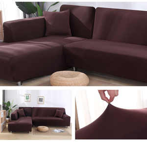 Image 5 - Elastic Stretch Sofa Cover 1/2/3/4 Seater Sof Slipcover Couch Covers for Universal Sofas Livingroom Sectional L Shaped Slipcover