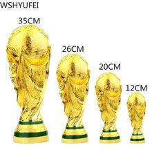 Resina dourada europeia para futebol, mundo, mascote, decoração familiar, ventilador de futebol, presente, decoração para escritório 2022