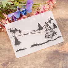 Embossing Folder Scrapbooking Stencils Painting-Tool Crafts Plastic Template Christmas-Tree