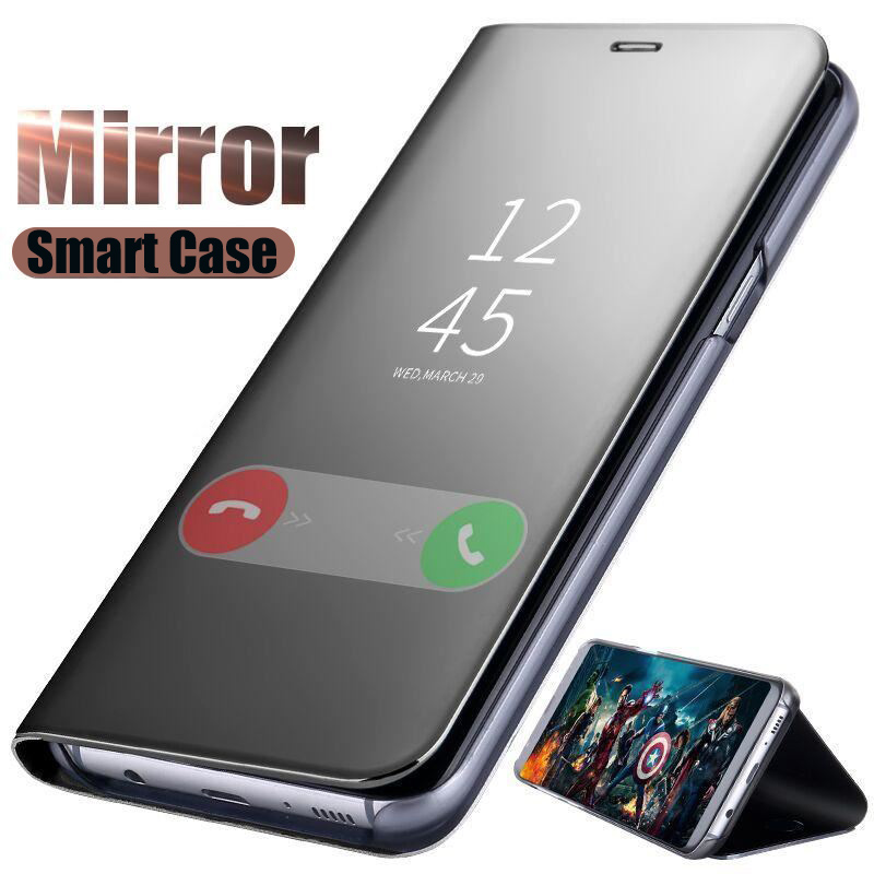 Shockproof case for <font><b>Huawei</b></font> Y7 <font><b>2019</b></font> DUB-LX1 Luxury Smart Mirror Flip Cover Y7 Prime <font><b>2019</b></font> <font><b>Fundas</b></font> Y7 Pro <font><b>2019</b></font> y72019 <font><b>y</b></font> <font><b>7</b></font> Accessory image