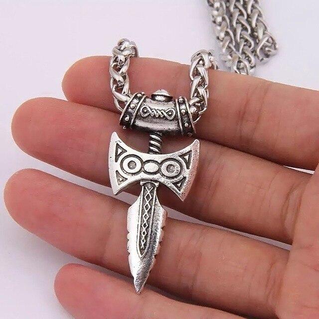 Skyrim  меч викингов, ожерелье из нержавеющей стали -
