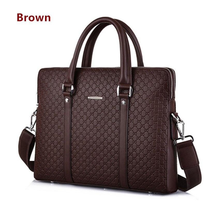 He5aacc1a76d14fe7a915a13e16bf4dbaM Double Layers Men's Microfiber Synthetic Leather Business Briefcase Casual Shoulder Bag Messenger Bag Laptop Handbag Travel Bag