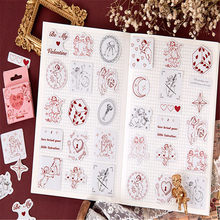 46 sztuk/pudło piękny Cupid miłość boga obraz DIY naklejki kartki samoprzylepne notatnik organizator dekoracja biurowa