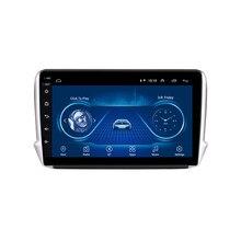 2 din rádio do carro para peugeot 2008 208 sistema multimídia 2012 - 2018 gps unidade de cabeça de navegação android wifi fm câmera traseira