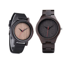 DODO DEER Men's Wooden Leather Watch Analog Quartz Watch Vintage Unique Engraving Custom Male Watch B10-1 B18-1(China)
