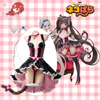 [Pre sale] Game NEKOPARA Cosplay Costumes Sexy Chocolate Maid Outfit Lolita Dress Female Halloween Party Role Play Prop Clothing