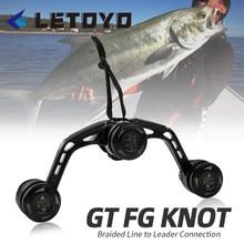 Letoyo pesca knotter assist nó ferramenta bobina dobadoura gt fg pr linha de fio máquina knotting japão equipamentos linha de pesca bens