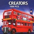 1266 1686 шт создатель города Лондона автобус строительные блоки кирпичи игрушка совместимая 10258 21045 DIY игрушка Детские подарки на день рождения