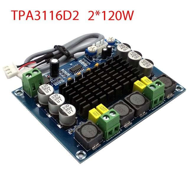 TPA3116 ערוץ כפול סטריאו גבוהה כוח דיגיטלי מגבר אודיו לוח TPA3116D2 מגברי 2*120W Amplificador DIY