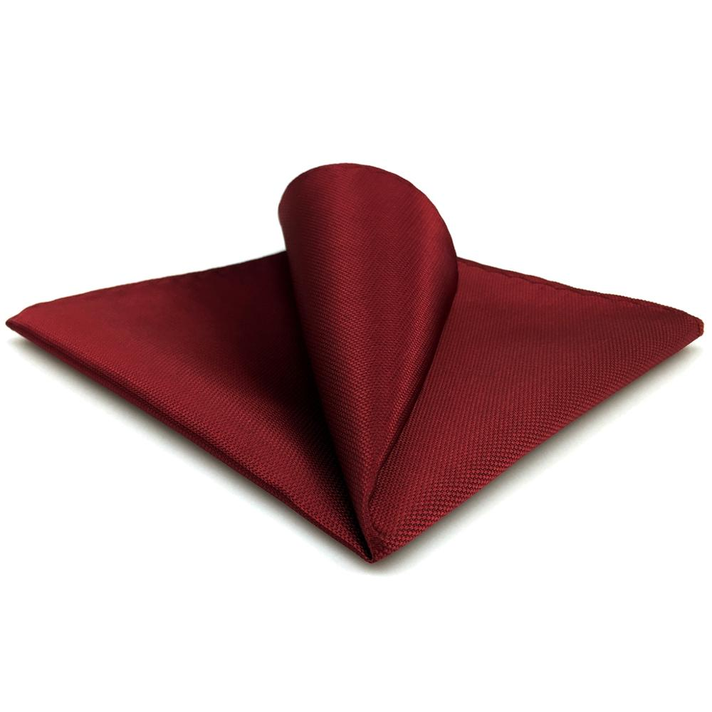 CH33 Classic Solid Red Mens Pocket Square Handkerchief Wedding Acceossories Silk