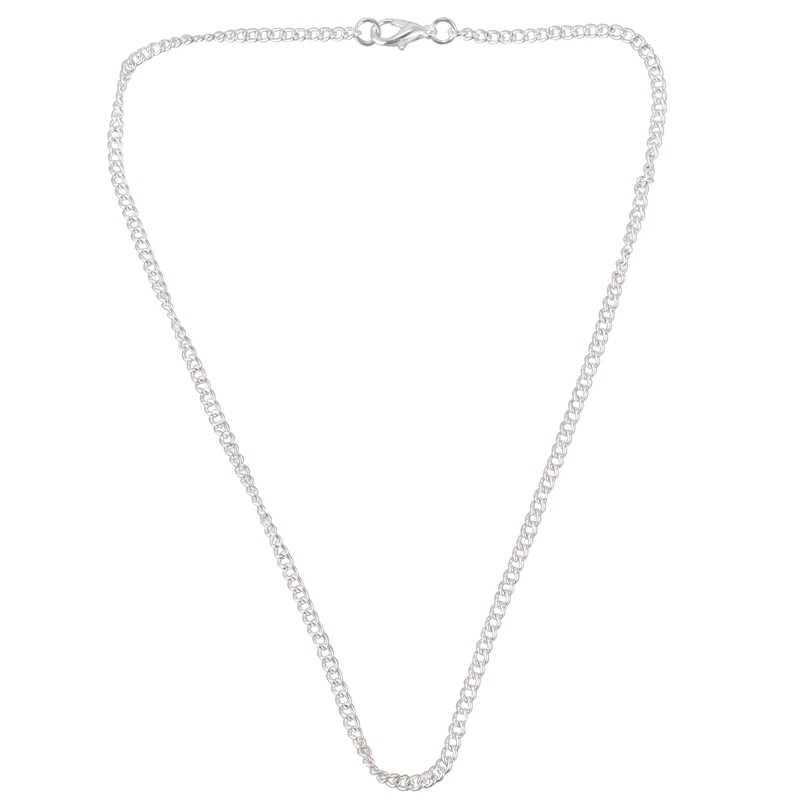 12 pièces chaîne en argent colliers 2x3mm 16 pouces pour la fabrication de bijoux