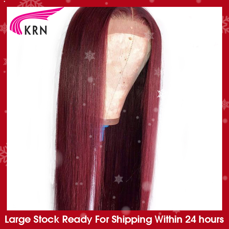 KRN Human-Hair-Wigs Lace Wigs Remy Hair Lace-Frontal Pre-Plucked 180-Density Straight