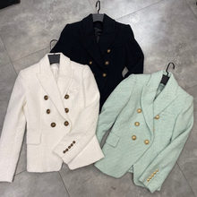 [DEAT] 2020 Winter Dresses New Fashion Tide Solid Color V-neck Long Sleeve Double Breasted Temperament Women Blazer Coat 13U542(China)