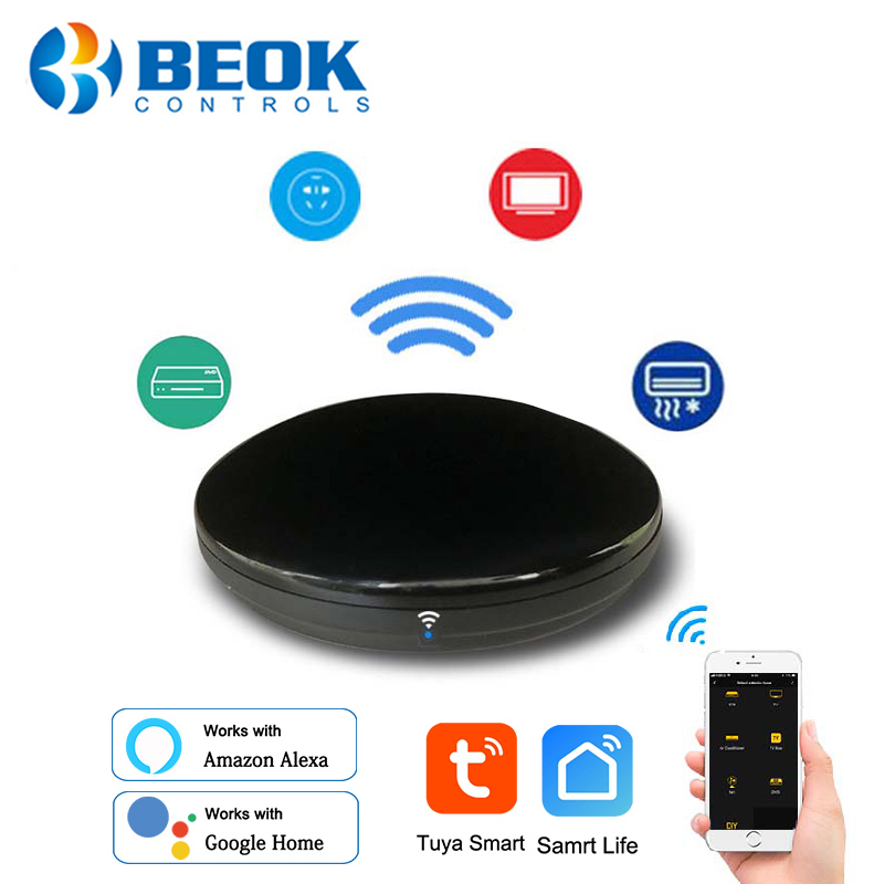 Universal Wifi Smart IR Remote Control Wireless Infrared Controller Hub Tuya Smart Life Voice Control Support Alexa Google Home