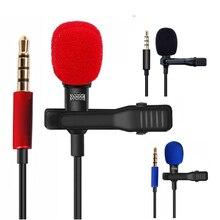 OLLIVAN Pro ses mikrofon 3.5mm Jack tak Clip on yaka mikrofon Stereo kayıt Mini kablolu harici telefon için mikrofon 1.5M