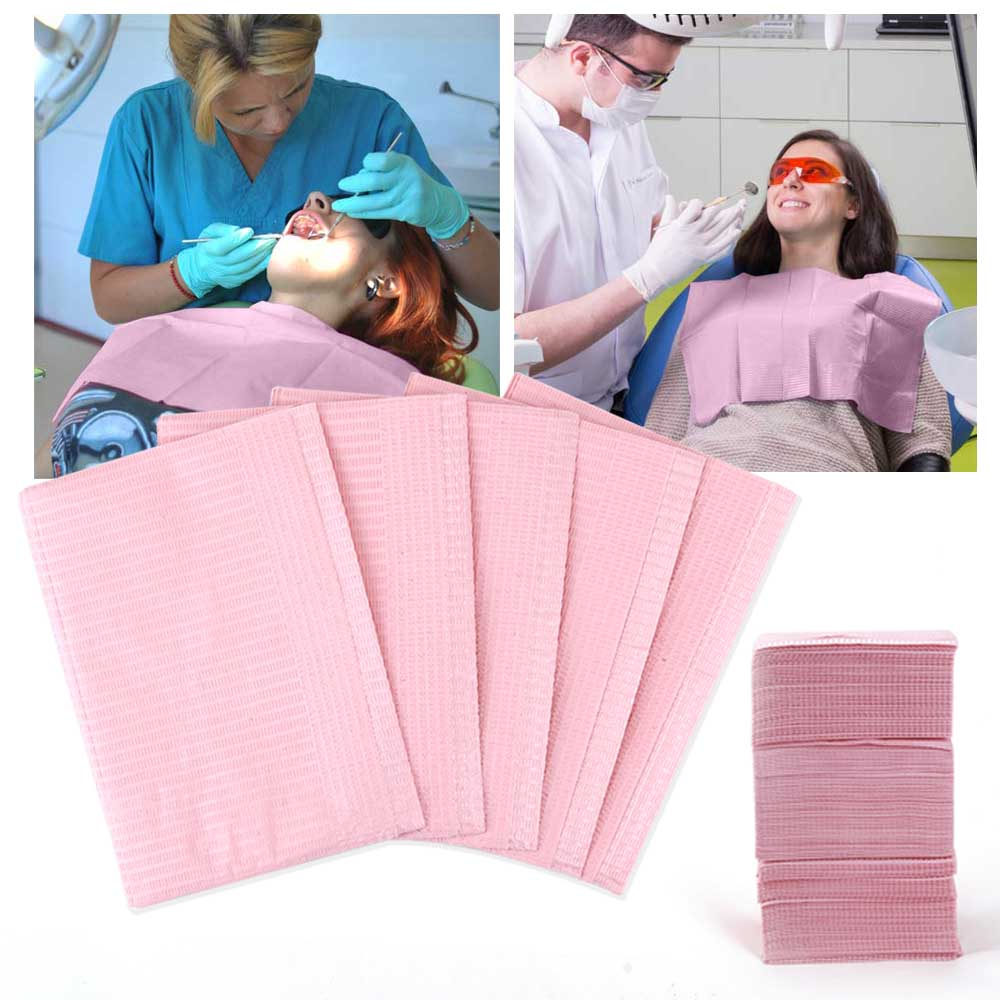5/125Pcs Dental Oral Hygiene Medical Paper Dentist Materials Disposable Patient Bibs Cleaning 2Ply Waterproof Beauty Neckerchief