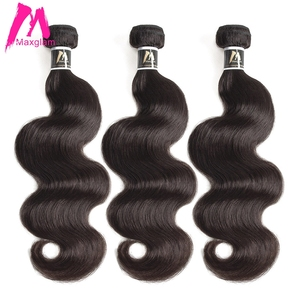 Image 3 - ブラジル人毛織り実体波バンドル 8 に 30 40 インチエクステンション非レミー自然なショートロングヘア延長 1 3 4 個