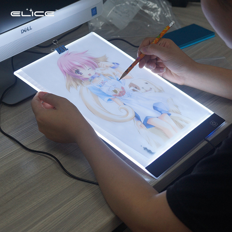 A4 Copy Board LED Calligraphy Copying Taiwan Anime Painted Sketch Shining Tou Xie Tai Copy Board Manufacturers Direct Selling