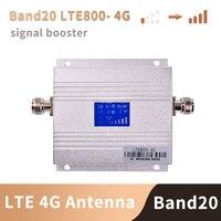 유럽 4G 신호 부스터 밴드 20 LTE 800MHz 모바일 신호 부스터 핸드폰 증폭기 셀룰러  안테나 포함되지 않음