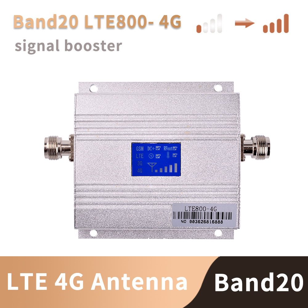 Europe 4G Signal Booster Band 20 LTE 800MHz Mobile Signal Booster  Cell Phone Amplifier Cellular  ,antenna Not Included