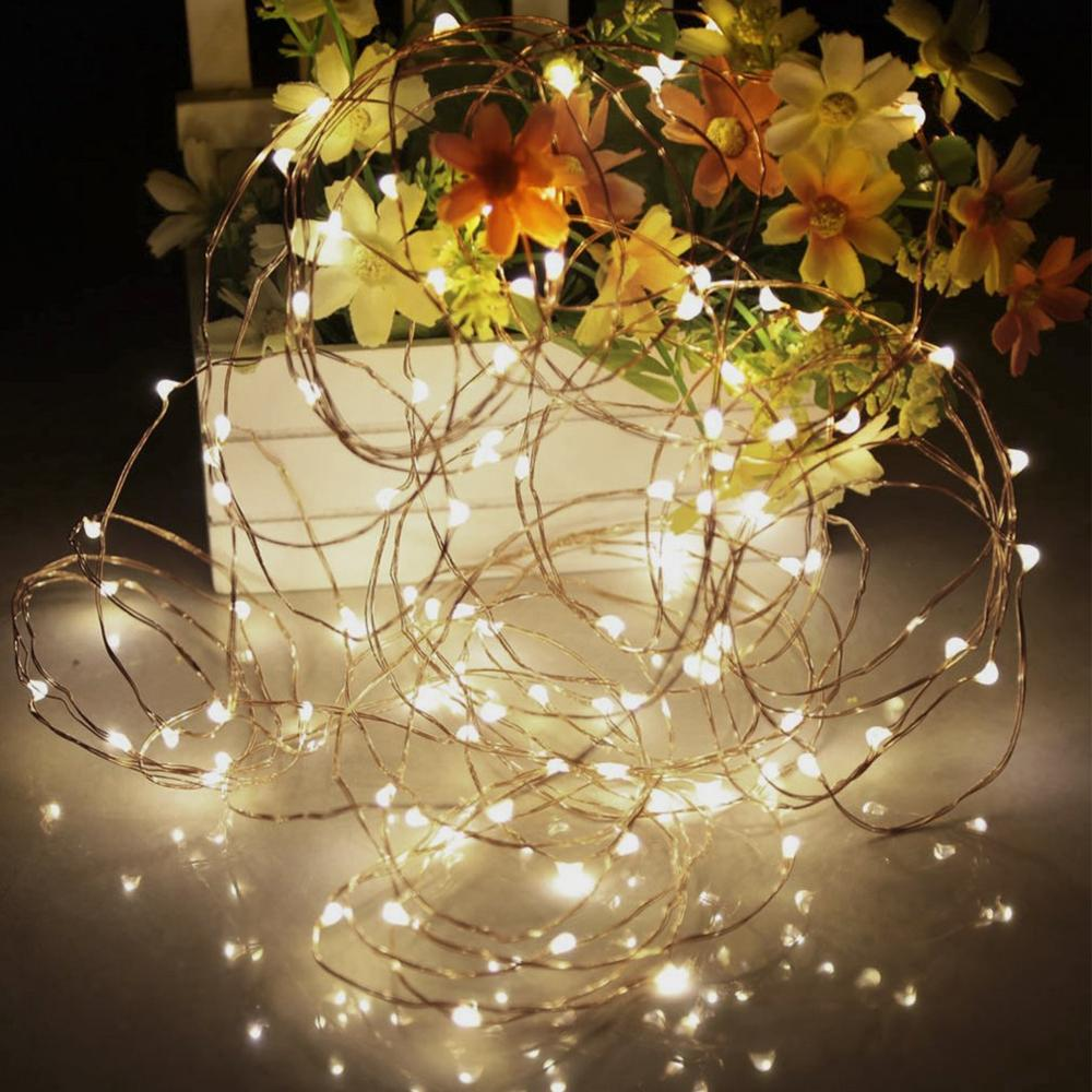 33ft/10m Remote Control LED String Lights Copper Wire Flexible Outdoor Light