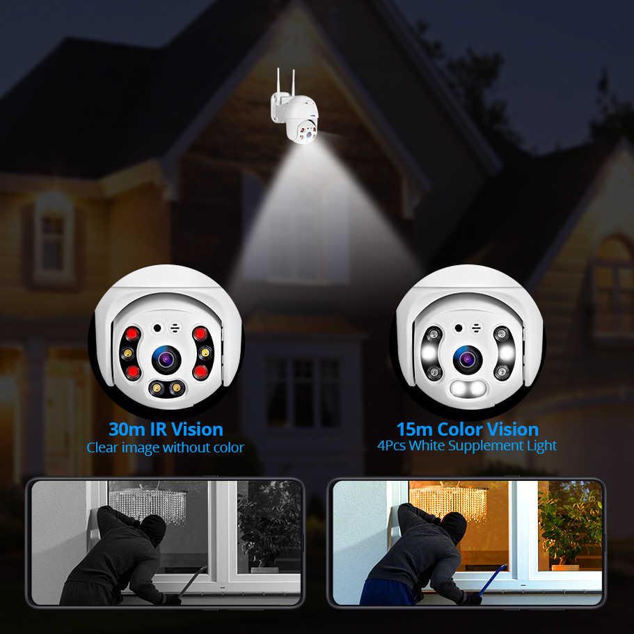 Kerui Outdoor Tahan Air Nirkabel 1080P 2MP PTZ WIFI IP Kamera Speed Dome Camera H.264 + IR Keamanan Rumah CCTV pengawasan