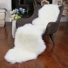 ROWNFUR, мягкий ковер из искусственной овчины для гостиной, детской спальни, чехол на стул, пушистый, пушистый, противоскользящий, искусственный мех, коврик для пола