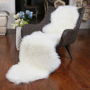 ROWNFUR Soft Artificial Sheepskin Carpet For Living Room Kids Bedroom Chair Cover Fluffy Hairy Anti-Slip Faux Fur Rug Floor Mat