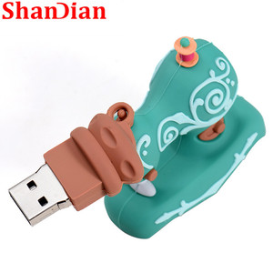 Image 5 - SHANDIAN Cartoon USB2.0 Flash Drive Sewing Machine Pen Drive Pen Drive 4GB 16GB 32GB 64GB 128GB U Disk Wedding Commemorative G
