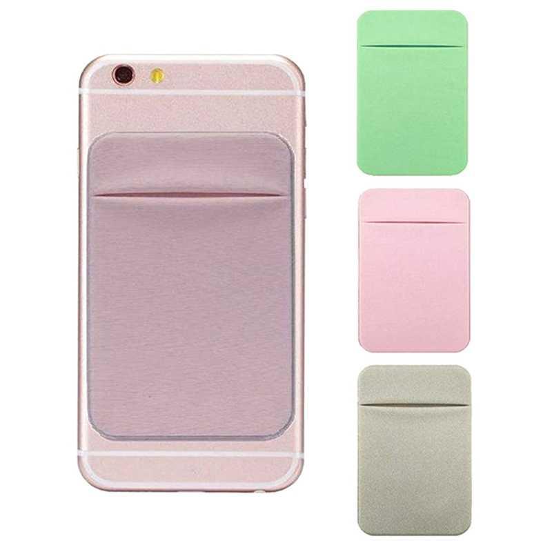 Novo telefone móvel titular do cartão de crédito carteira bolso vara-na ferramenta elástica adesiva para iphone 6s 7 8 xs max xr