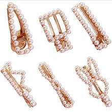 Coroa De Noiva The New Selling Pearl Pin Geometry Small Sweet Wind Web Celebrity Duckbill Clip Hot Style Accessories Wholesale