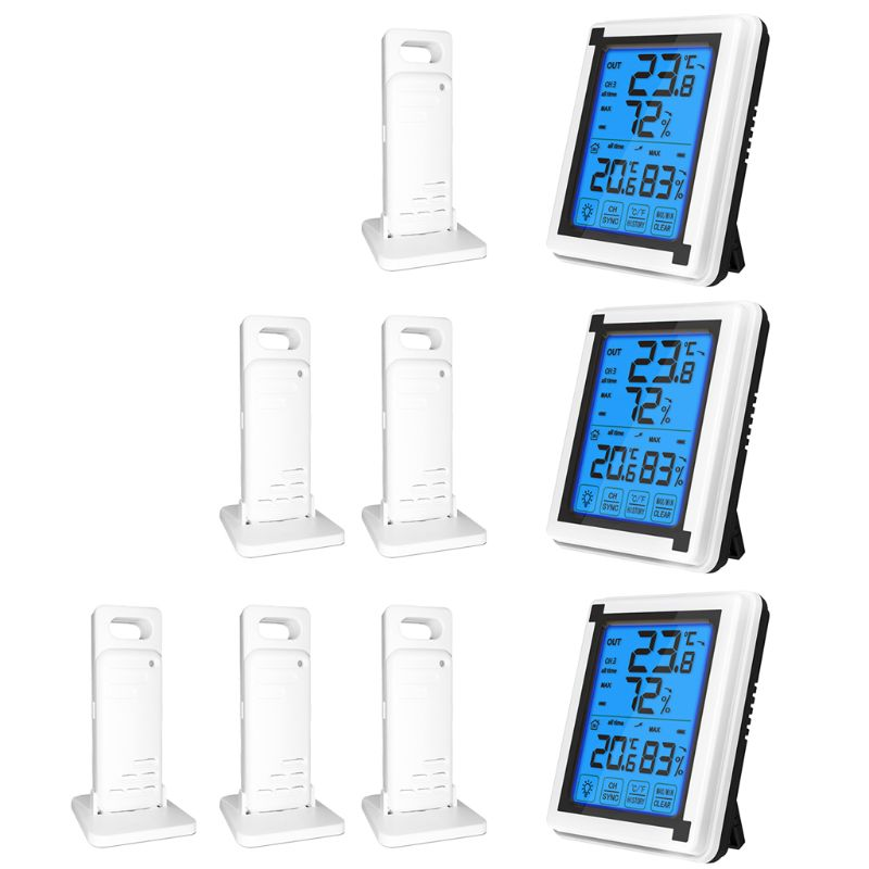 Wireless Outdoor Weather Station ℉/℃ Thermometer Hygrometer w/ 3 Forecast Sensor
