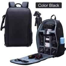 Mochila impermeable para fotografía, bolsa de hombro para cámara DSLR, funda de nailon para trípode para portátil de 15,6 pulgadas, bolsas SLR para viajes al aire libre