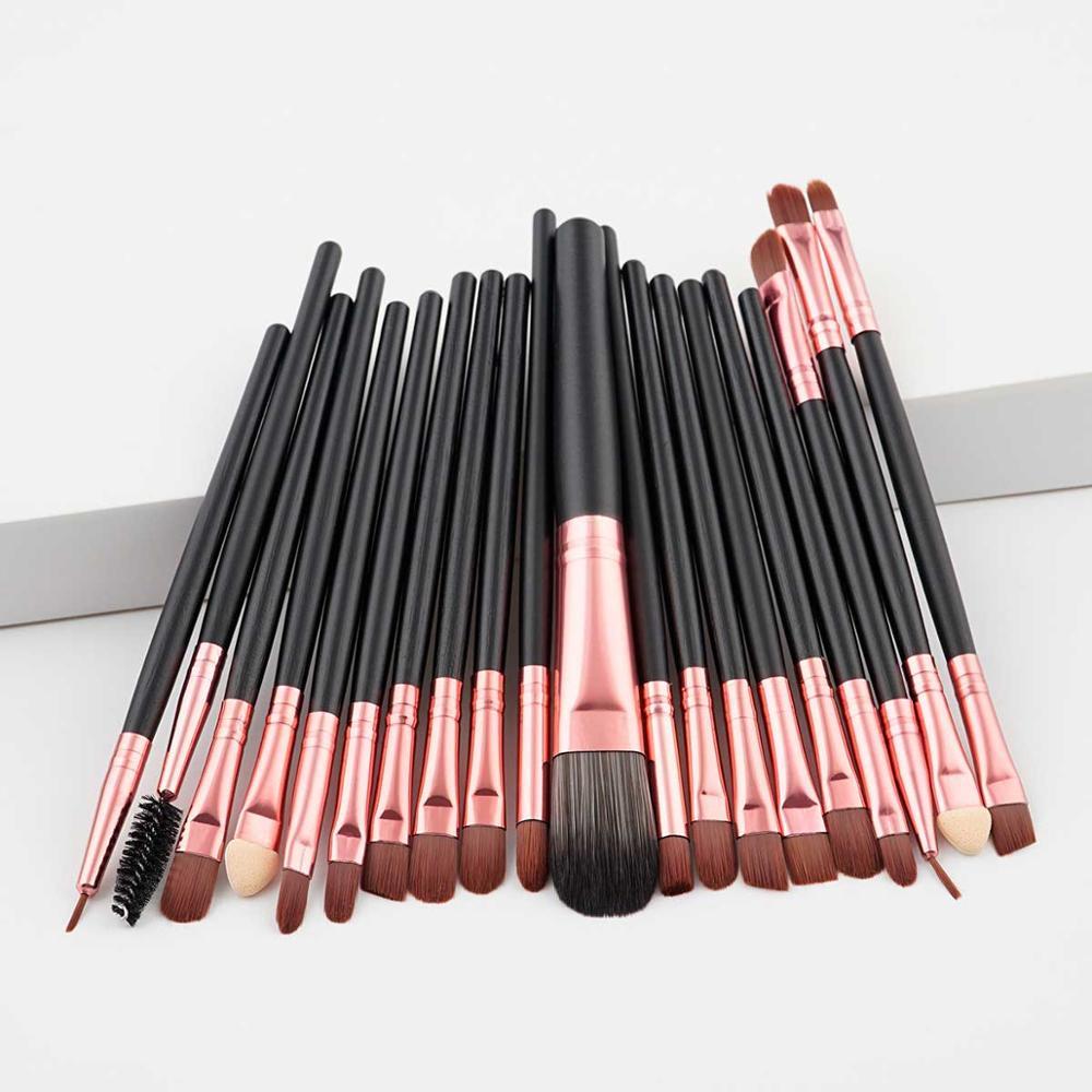 Fashion Luxury 20PCS Makeup Brushes Kit Foundation Powder Blush Eyeshadow Concealer Lip Eye Make Up Brush Cosmetics Beauty Tools(China)