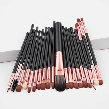 Moda luksusowe 20 sztuk zestaw pędzli do makijażu fundacja Powder Blush Eyeshadow Concealer Lip pędzel do makijażu powiek kosmetyki przybory kosmetyczne tanie i dobre opinie SHIDISHANGPIN NYLON Włosy syntetyczne 1-20 pcs T-20-006A 1 20pcs Zestawy i zestawy Z tworzywa sztucznego Cosmetic Brush