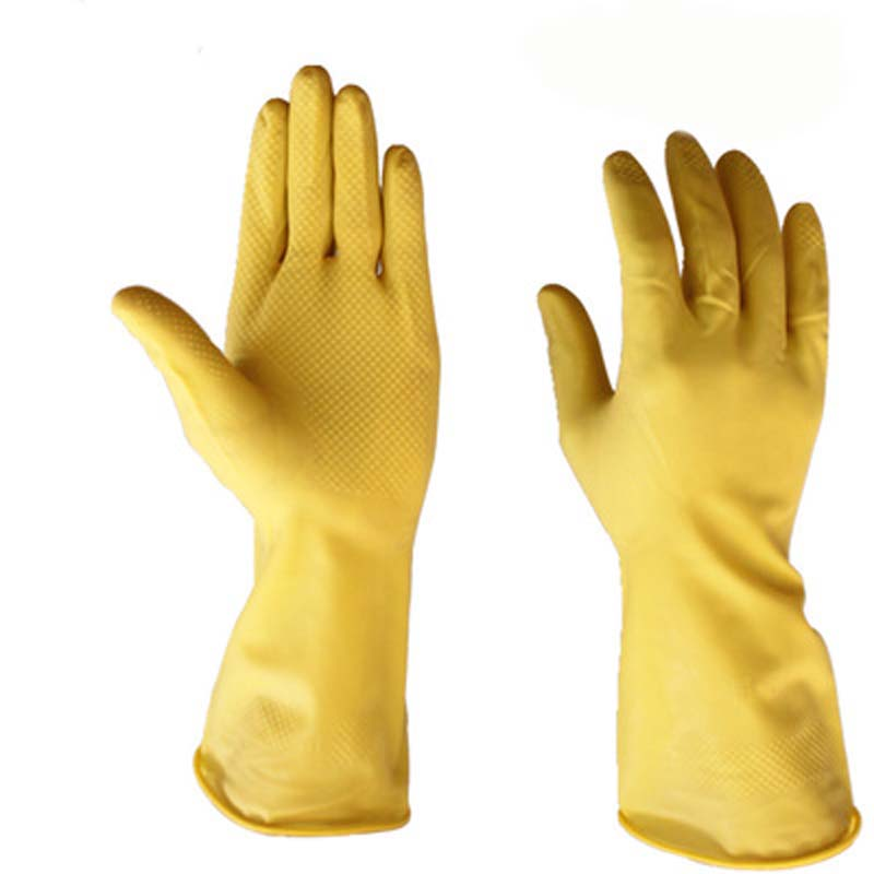 Thicken Beef Tendon Latex Gloves Industrial Waterproof Gloves Wear Rubber Gloves