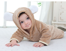 Oeak Newborn Flannel Hooded Romper Infant Baby Winter Fleece Jumpsuit Boys Girls Clothes Toddler Soft Warm Pajamas Clothing волкова к сост всеобщая история 11 класс