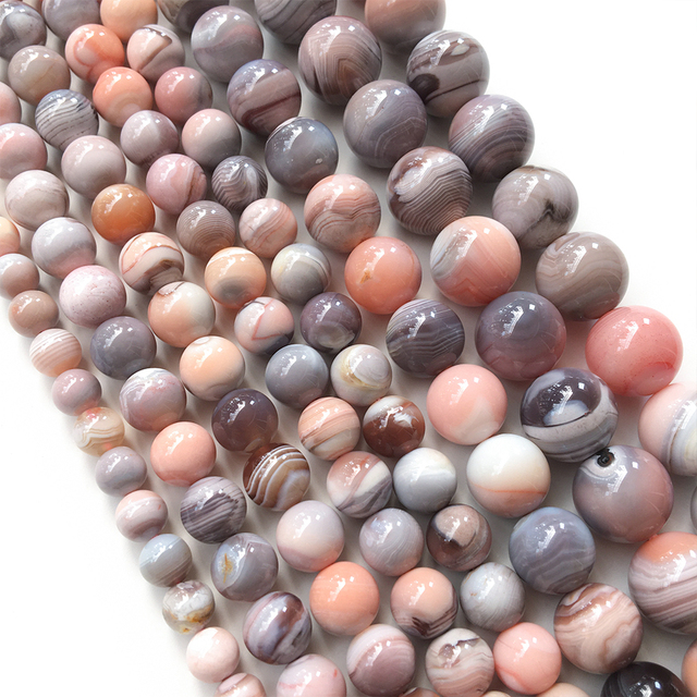 Botswana Agate Stone Banded Agate Healing Crystal for Wire wrap DIY Ring Agate Beads Botswana Agate Cabochon Pendants Jewelry Supply